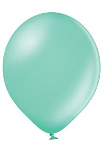turquoise ballong med tryck