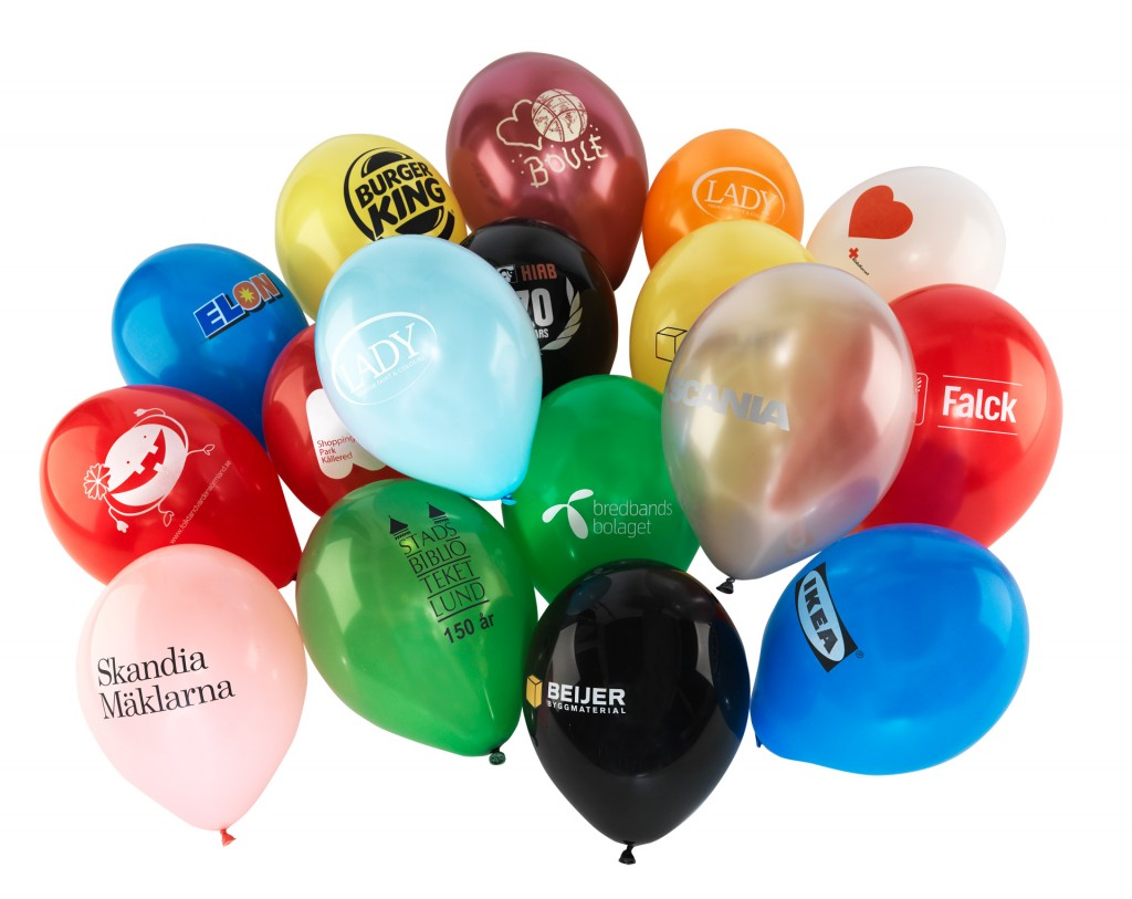 ballonger med logo
